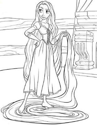 Disney Princess Coloring Pages Rapunzel Tangled Princess Coloring