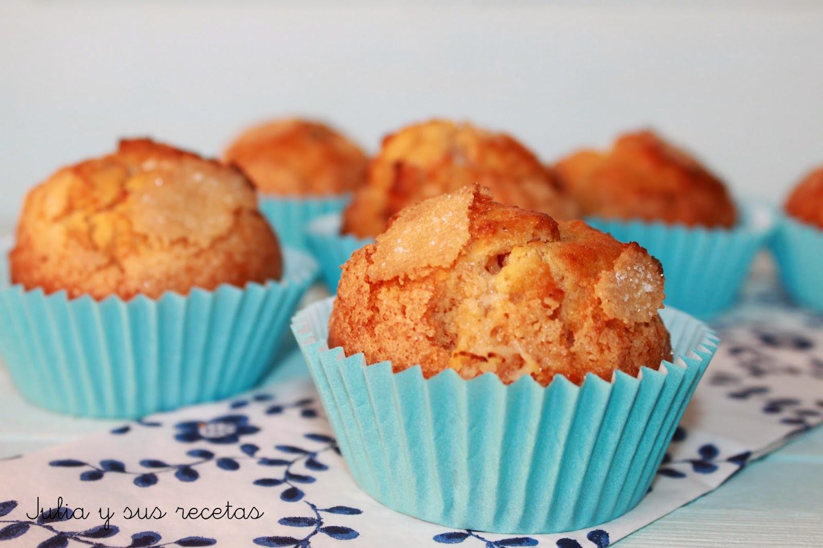 Muffins de zanahoria rellenos de crema de queso. Julia y sus recetas