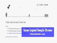 T-Rex Dino Runner, Game Oflline Legendaris Google Chrome