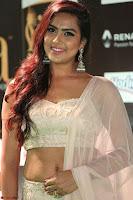 Prajna Actress in backless Cream Choli and transparent saree at IIFA Utsavam Awards 2017 0044.JPG