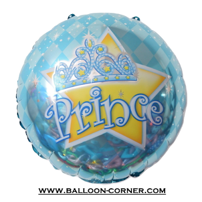 Balon Foil Bulat Prince Crown
