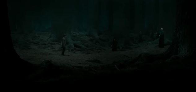 Harry Potter đến khu rừng cầm để chấp nhận cái chết
