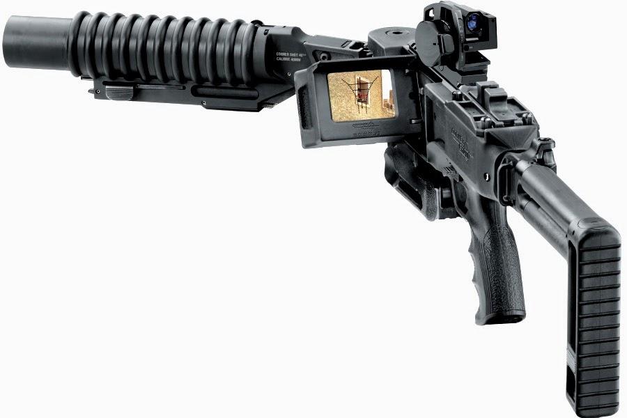Senjata Corner Shot 40mm Grenade Launcher