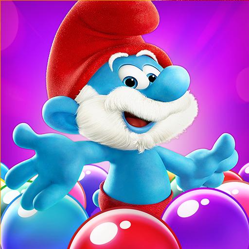 تحميل لعبه Smurfs Bubble Shooter Story مهكره اخر اصدار