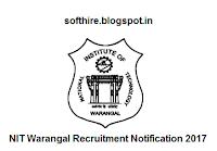 NIT Warangal Recruitment Notification