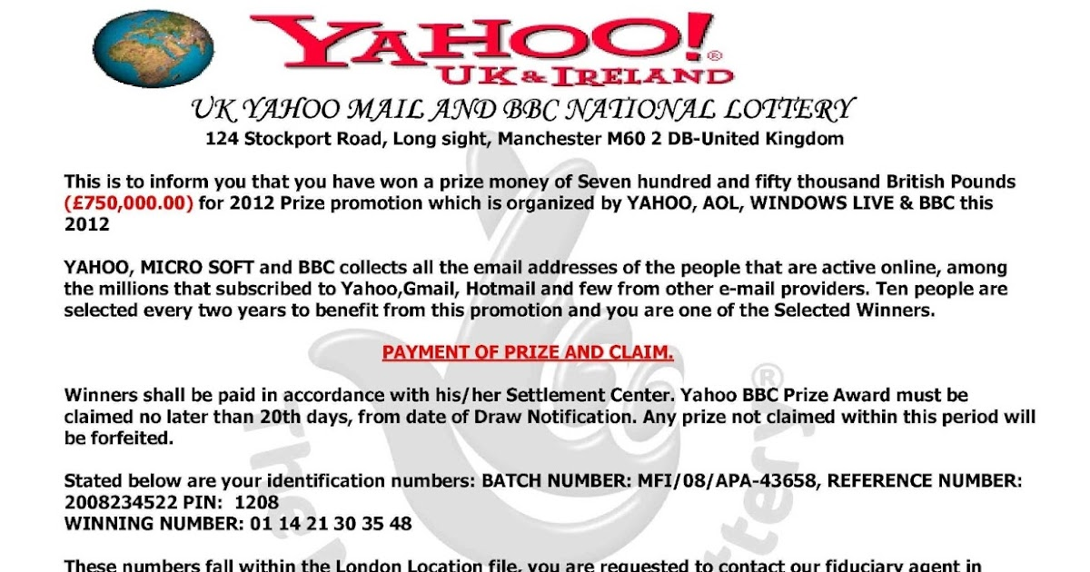SCAM Letter: That Yahoo Lottery Letter Scam | KnowThyMoney