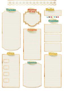 planning diario para descargar gratis y muchos más imprimibles