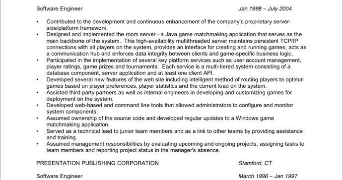 software developer sample resume sample resumes sample - Software Developer Sample Resume