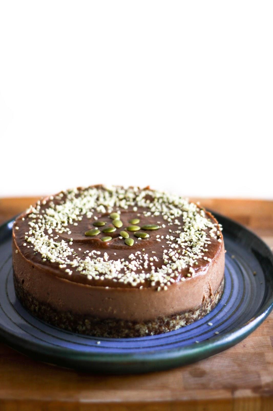 Raw Vegan Chocolate Banana Cake