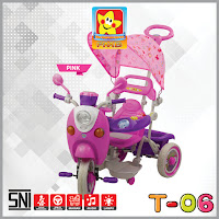 pmb t06 musik dobel scoppy baby tricycle