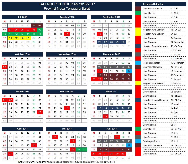 Kalender Pendidikan Provinsi Nusa Tenggara Barat