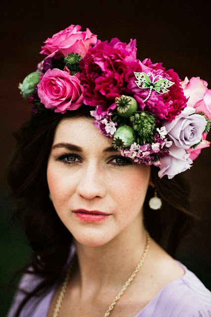 Floral Crown designed by Patience Pickner AIFD PFCI SDCF- PromFlowers designer spotlight