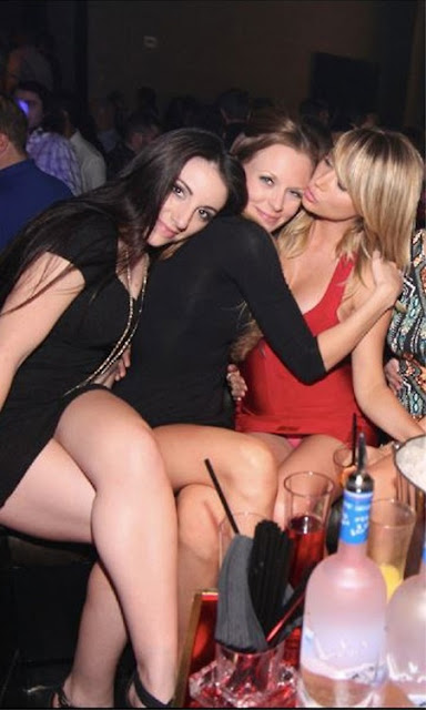 Exotic whores at work brunette threesome