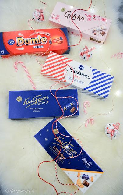 fazer suklaa joulusuklaa joulupöytä konvehti sininen suklaa