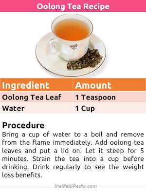 Weight Loss Tea Recipe - Oolong