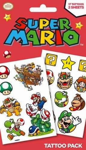 Super Mario Temporary Tattoos