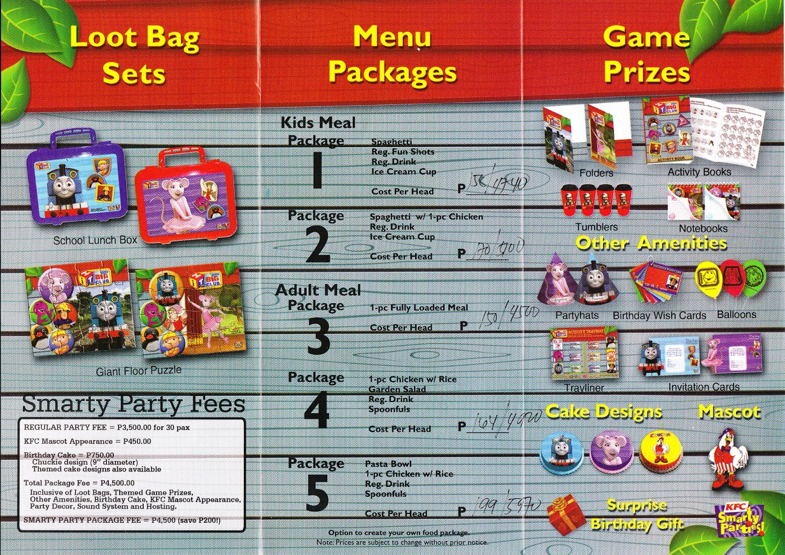 Moms Kiddie Party Link: KFC Smarty Party Package