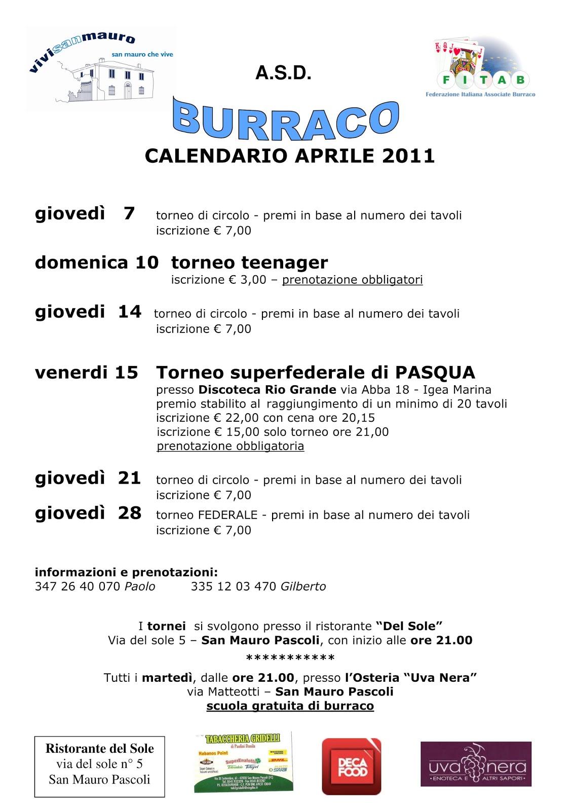 Fitab Calendario.Vivi San Mauro