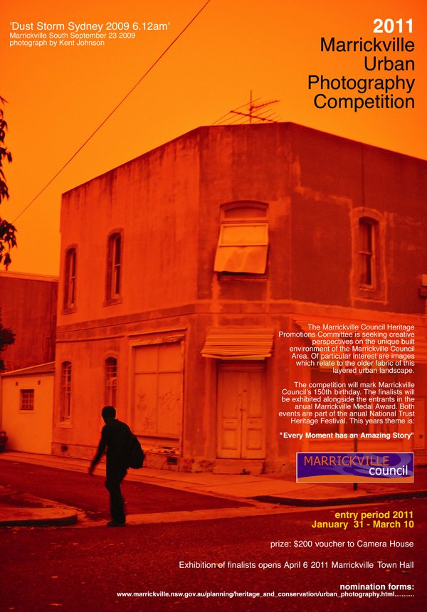 Poster for Marrickville Sydney Urban Photography exhibition. Photography by Kent Johnson.