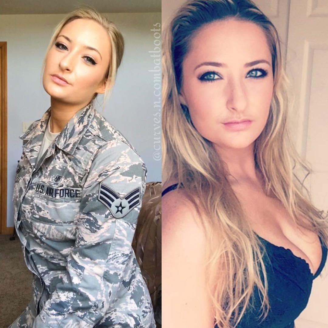 Красивые и сексуальные военные девушки без формы (30 фото)