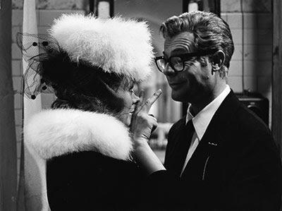 Marcello Mastroianni as Guido Anselmi, Guido'd mistress, Otto e Mezzo, Directed by Federico Fellini