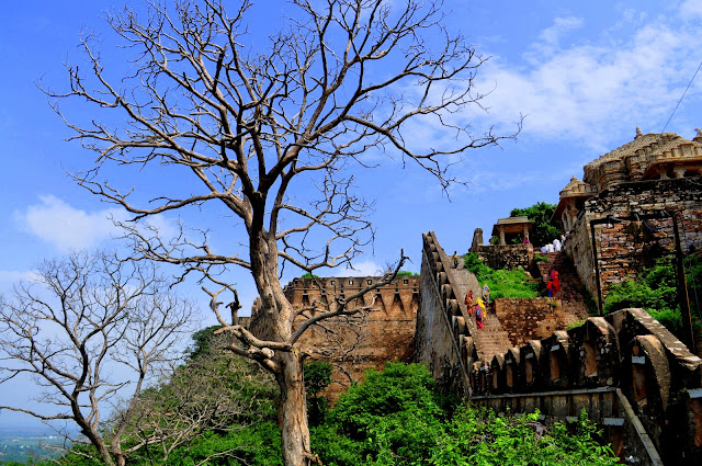 chittorgarh fort life rajasthan town heritage temple