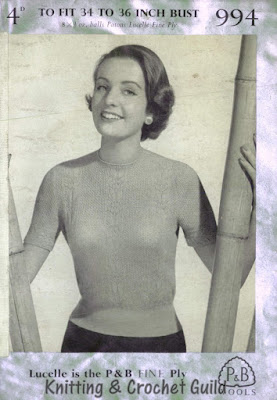 Vintage 1950s knitting pattern