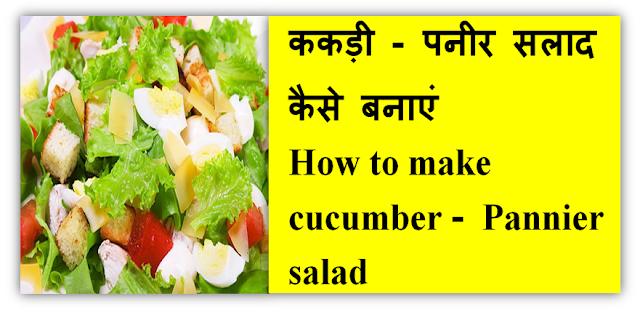 ककड़ी - पनीर सलाद कैसे बनाएं - How to make cucumber Pannier salad