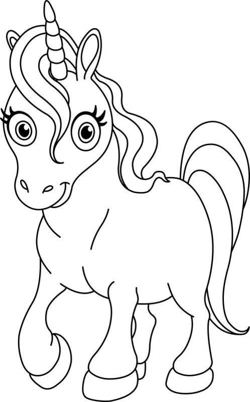 Bir Gun Gulumse Unicorn Tek Boynuzlu Atlar Boyama Sayfalari