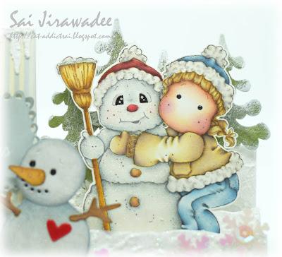 Magnolia Snowy Hug