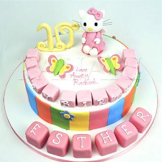Những loại  bánh kem sinh nhật Hello Kitty cực dễ thương dành cho bé