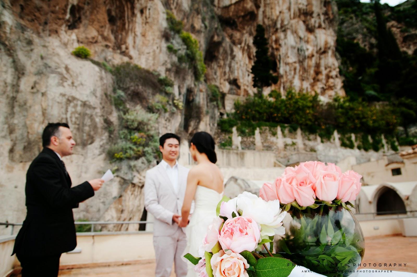 Wedding ceremony Hotel Convento Amalfi