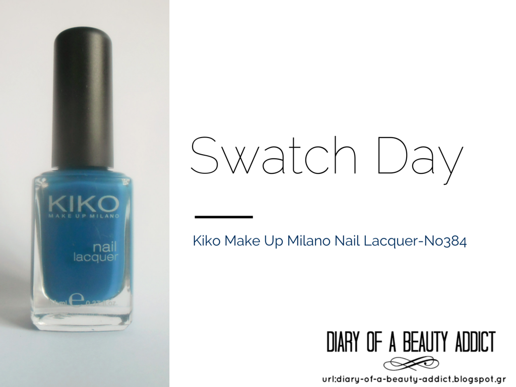 Kiko Make Up Milano Nail Lacquer No384 : Swatch Day