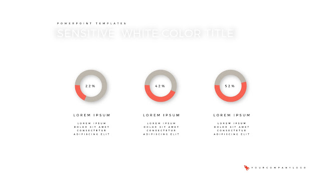 Circular Chart of Premium PowerPoint Template with Whit Title