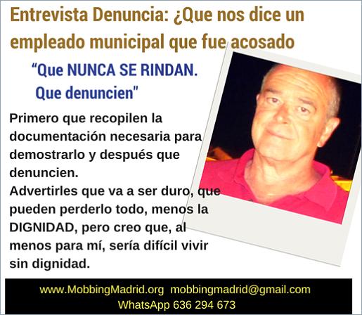 PRIDICAM #MobbingMadrid Entrevista Denuncia:¿Que nos dice un empleado municipal que sufrió #Mobbing?