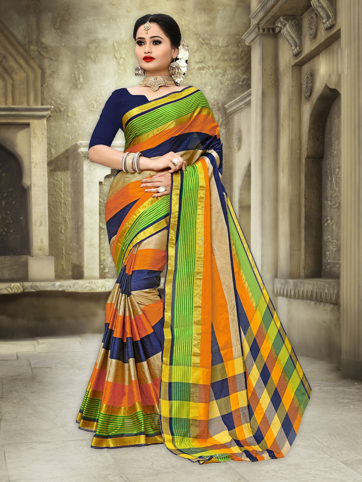 Riya Vol 1 – Latest New Stylish Banarasi Art Silk Saree