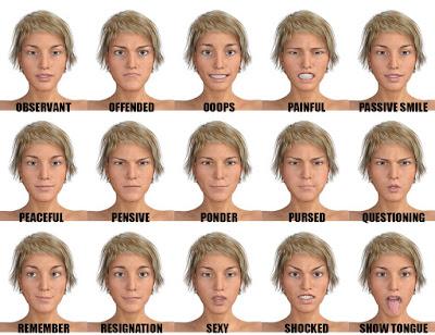 Genesis 3 Female Expressions Face aniBlocks