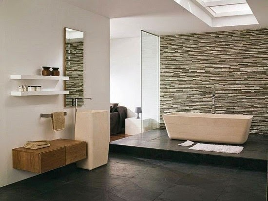 Choosing Natural Stone Bathroom Design 2015 Home Design