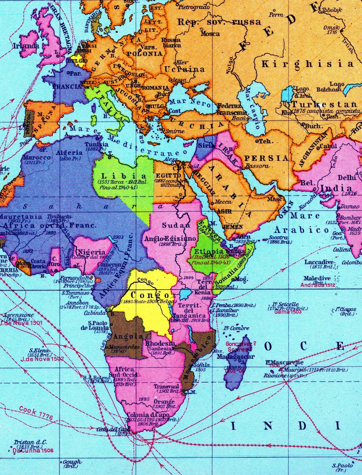 Cartina Geografica Europa E Africa.Economia Economia Politica 2 Nel Mondo Occidentale Dal 1940 Al