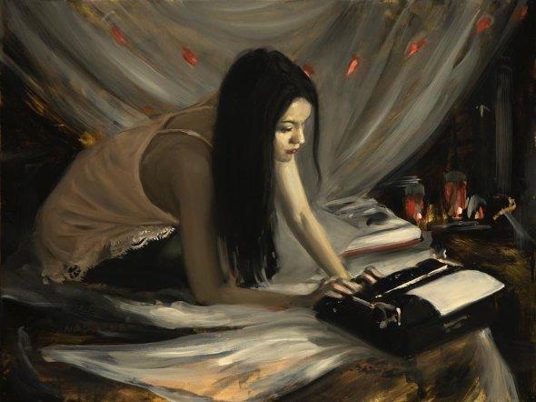 Nadezda twistedmatter pinturas a óleo renascentista mulheres realista sombria