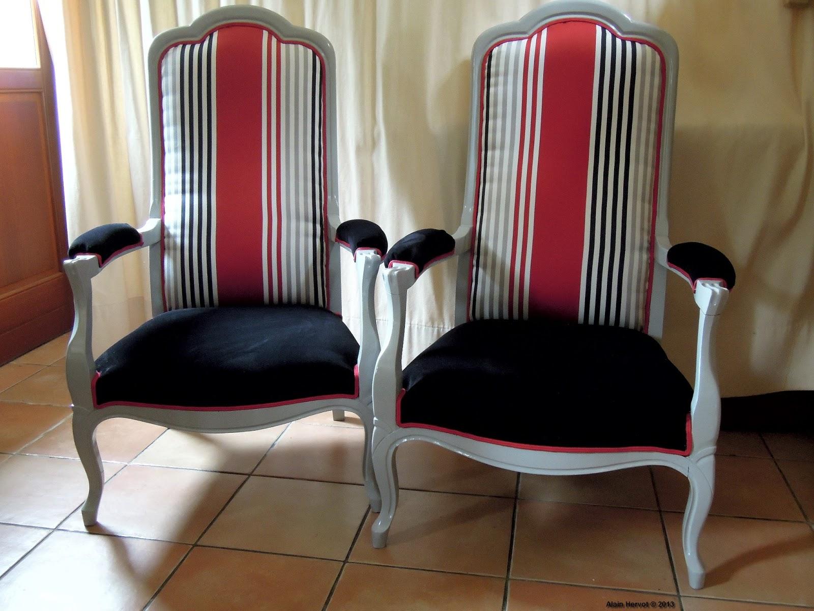 ambiances bois patines relooking de deux fauteuils voltaire. Black Bedroom Furniture Sets. Home Design Ideas