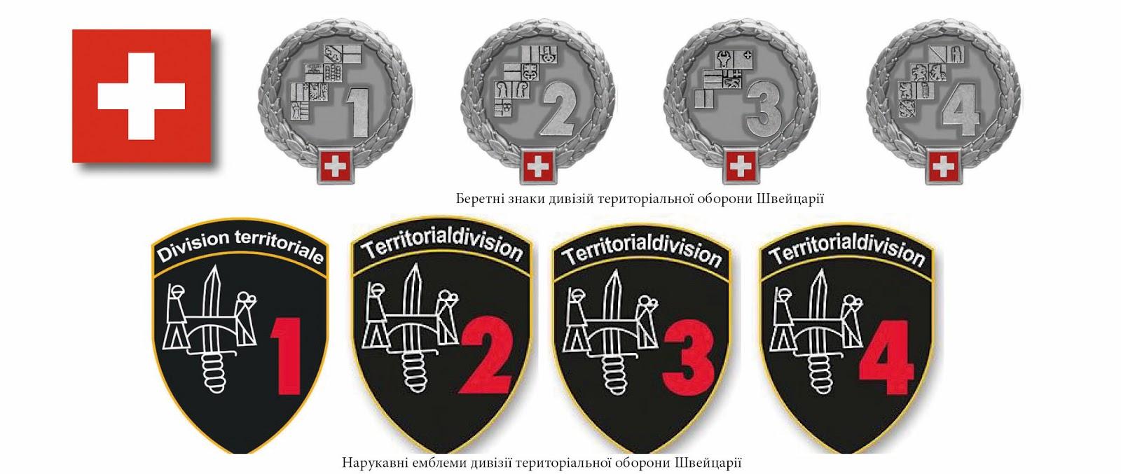 нарукавні емблеми тероборони ЗС Швейцарії