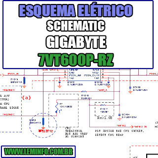 Esquema Elétrico Notebook Gigabyte 7VT600 P Laptop Manual de Serviço  Service Manual schematic Diagram Notebook Gigabyte 7VT600 P Laptop   Esquematico Notebook Placa Mãe Gigabyte 7VT600 P Laptop