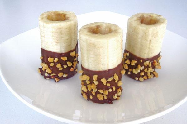 бананы шоколад орехи крем