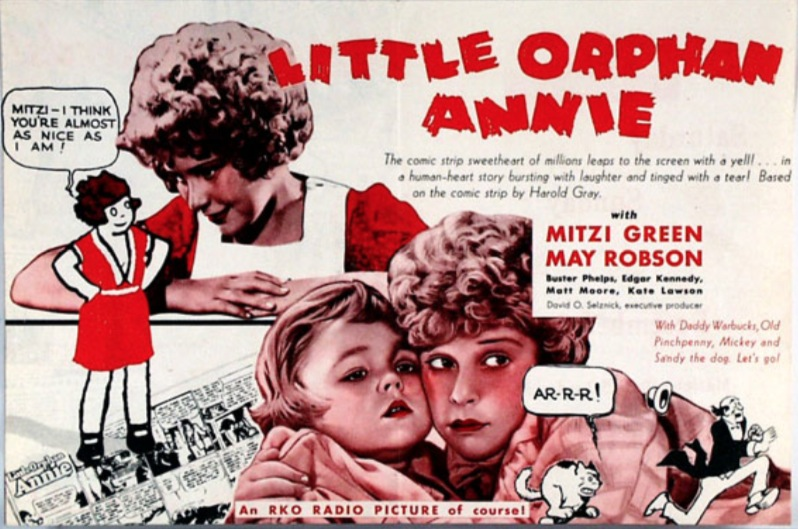 Little Orphan Annie Best Lines: Booksteve Goes To The Movies: Little Orphan Annie-1932