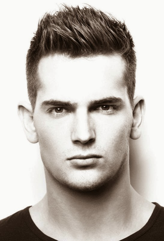 coiffure homme court avec gel