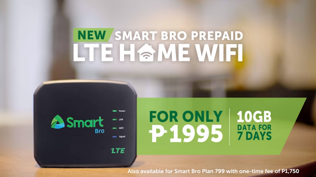 Smart Bro Prepaid LTE Home WiFi Priced at 1995 Pesos with