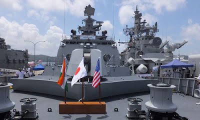 India, Japan, US, Naval Exercise, United States of America, United States, Trilateral Naval Exercise, East coast of Okinawa Prefecture, Western Pacific