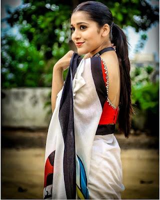 Actress Rashmi Gautam Glamorous Pics In Saree