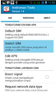 Cara mengaktifkan data gsm di smartfren andromax